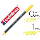 Marcador edding 1200 ponta fibra 0.5mm amarelo neon