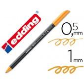 Marcador edding 1200 ponta fibra 0.5mm laranja neon
