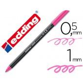 Marcador edding 1200 ponta fibra 0.5mm rosa neon