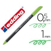 Marcador edding 1200 ponta fibra 0.5mm verde neon