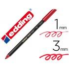 Marcador edding ponta fibra 1200 vermelho metalizado n 72 ponta redonda 0.5 mm