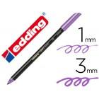 Marcador edding ponta fibra 1200 violeta metalizado n 78 ponta redonda 0.5 mm