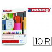 Marcador edding ponta fibra 1200 caixa de 10 marcadores ponta redonda 0.5 mm