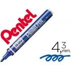 Marcador pentel n50 permanente azul