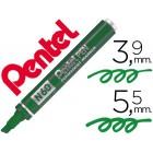 Marcador pentel n60 permanente biselado verde