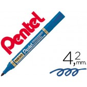Marcador pentel n850 permanente ponta redeonda azul