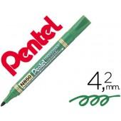Marcador pentel n850 permanente ponta redeonda verde