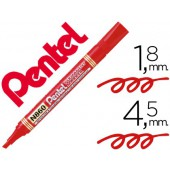 Marcador pentel n860 permanente biselado vermelho