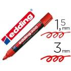Marcador edding marcador permanente 300 vermelho ponta redonda 1.5 mm
