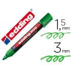 Marcador edding marcador permanente 300 verde ponta redonda 1.5 mm