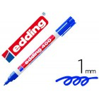 Marcador edding marcador permanente 400 azul ponta redonda 1 mm