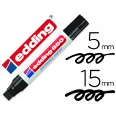 Marcador edding permanente 850 preto ponta biselada 16 mm