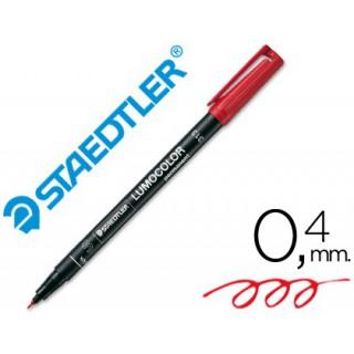 Marcador lumocolor retroprojeccao 313-2 ponta 0.4mm vermelho