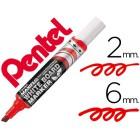 Marcador pentel mwl6 maxiflo quadro br. biselado vermelho