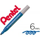 Marcador pentel mw5w quadro br 6 mm azul