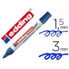 Marcador edding para quadro branco660 cor azul ponta redonda 3 mm recarregavel