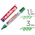 Marcador edding para quadro branco660 cor verde ponta redonda 3 mm recarregavel