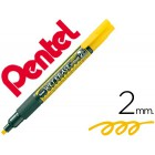 Marcador pentel smw26 wet erase amarelo