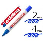 Marcador edding ponta de fibra 750 azulponta redonda 3.5 mm