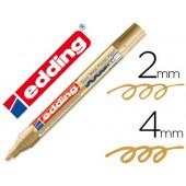 Marcador edding ponta de fibra 750 ouroponta redonda 3.5 mm