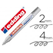 Marcador edding ponta de fibra 750 prataponta redonda 3.5 mm
