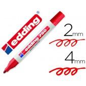 Marcador edding ponta de fibra 750 vermelhoponta redonda 3.5 mm