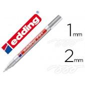 Marcador edding ponta de fibra 751 branco ponta redonda 1.5 mm