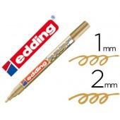 Marcador edding ponta de fibra 751 ouro ponta redonda 1.5 mm
