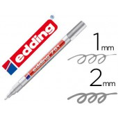 Marcador edding ponta de fibra 751 prata ponta redonda 1.5 mm