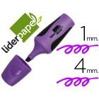 Marcador fluorescente liderpapel violeta