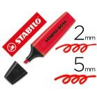 Marcador fluorescente stabilo boss70 vermelho