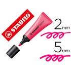 Marcador stabilo fluorescente 72 rosa neon