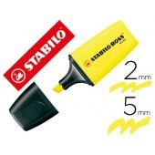 Marcador stabilo boss fluorescente mini amarelo