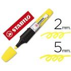 Marcador stabilo boss luminator amarelo tinta luquida