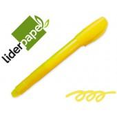 Lapis cera suave fluorescente liderpapel amarelo