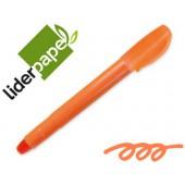 Lapis cera suave fluorescente liderpapel laranja
