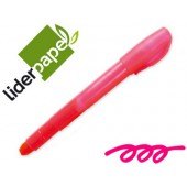 Lapis cera suave fluorescente liderpapel rosa