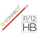 Lapis de grafite q-connect hexagonal com borracha n.2 hb