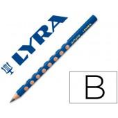 Lapis de grafite lyra groove triangular mina b de 4.25 mm