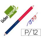 Lapis de cores liderpapel bicor c/ de 12 cores jumbo