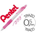 Lapiseira pentel az135 rolly 0.5mm rosa