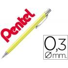 Lapiseira pentel orenz cor amarela ponta de 0.3 mm