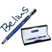 Esferografica belius belgrado com ponteiro para ecras tateis azul em estojo