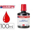 Tinta marcador edding t-100 vermelho -frasco de 100 ml
