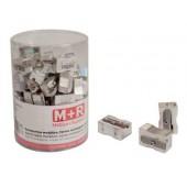 Apara-lapis mor 200 metalico rectangular um uso expositor de 100 unidades