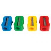 Apara lápis mor de plastico 1 uso sem parafuso forma retangular ergonomica