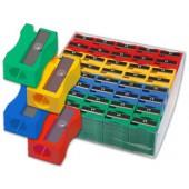 Expositor de 120 apara-lapis de plastico