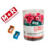 Apara-lapis mor 304 plastico rectangular um uso cores sortidas