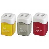 Apara-lapis mor metalico para esquerdinos 2 usos com deposito cores sortidas