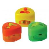 Apara-lapis mor top swing 959 3 usos com deposito top cores neon sortidas